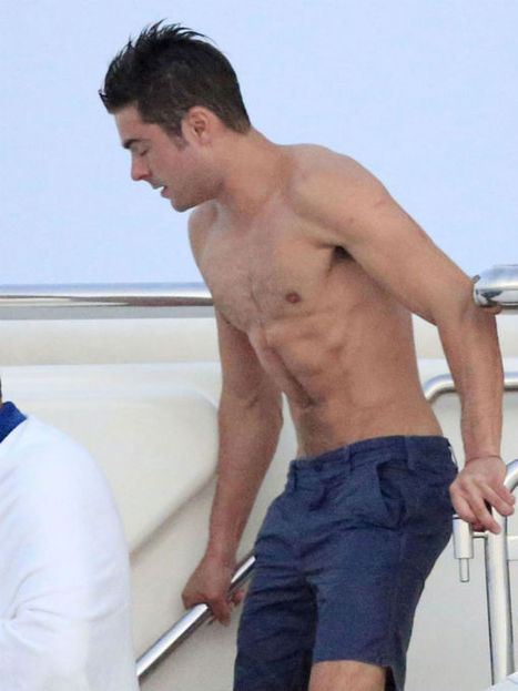 Zac Efron Spotted Shirtless On A Yacht In Spain | Celebrity Hunks | Scoop.it