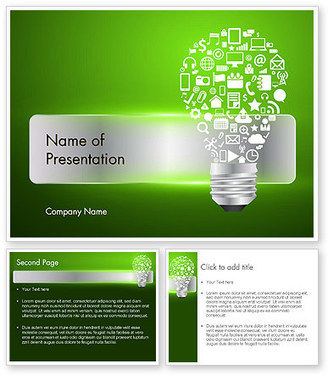 Creative Light Bulb with Icons PowerPoint Template | PowerPoint Presentations and Templates | Scoop.it