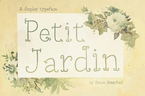 Petit Jardin decorative display font | My Typefaces | Scoop.it