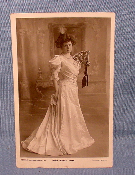 Gorgeous Postcard Featuring Mabel Love, Actress | Antiques & Vintage Collectibles | Scoop.it