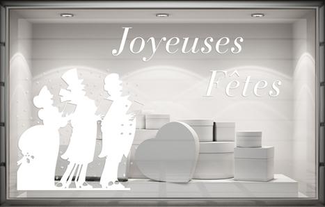 Sticker Noël - Chanteurs de Noël. Paris - Graphicarts | Lettrage adhésif et impression numérique | Scoop.it