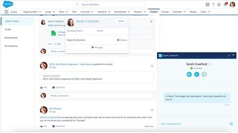 Microsoft annonce Skype pour Salesforce | Salesforce News France | Scoop.it