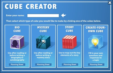 Cube Creator for Writing | Teachers Rock!! | Scoop.it