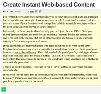 Create Web Content Instantly | Techy Stuff | Scoop.it