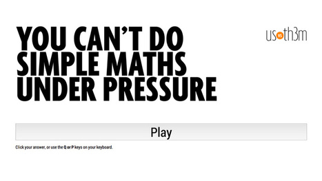 You can't do simple maths under pressure | SocialPsy. | Scoop.it