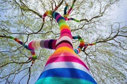 Yarn Bombing   Facebook   knitting   Scoop.it