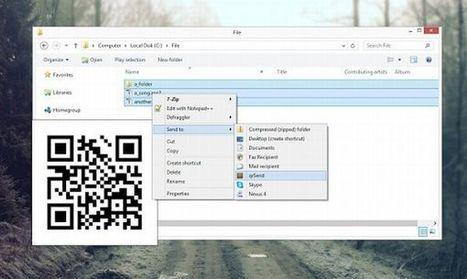 qrSend te permite transferir archivos desde el PC al terminal Android bajo la misma red WiFi | Tic tac technical | Scoop.it