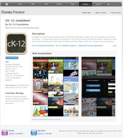 CK-12 Launches its Free Educational iPad App studyNow! | EDUcational Chatter | Scoop.it