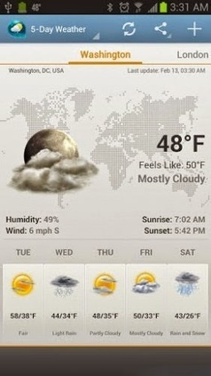 Weather & Clock Widget Ad Free v1.1.0 apk | android applications | Scoop.it