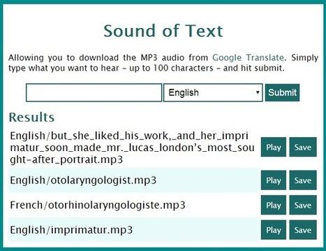 Synthèse vocale en 60 langues avec soundoftext | Apprendre les langues | cours de FLE | Scoop.it