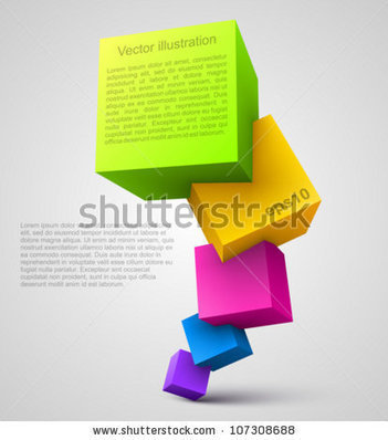 Colorful Cubes 3d. Stock Vector 107308688 : Shutterstock | FLE 2.0 | Scoop.it