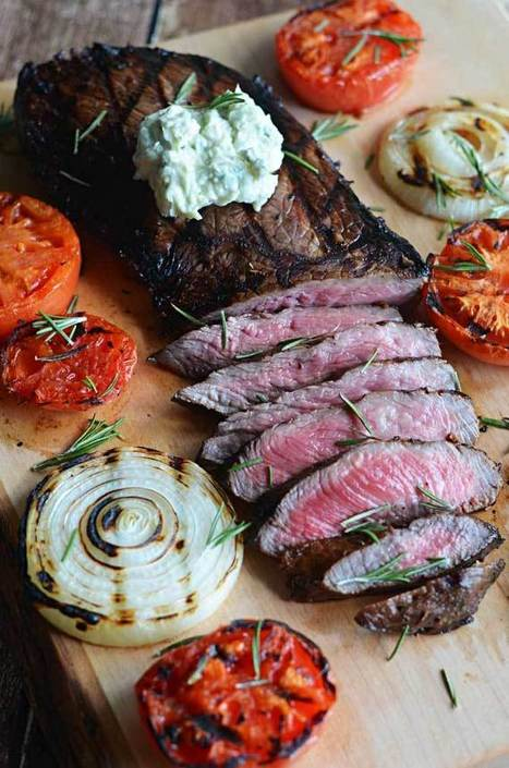 Bent Philipson-Grilled Balsamic Steak with Blue Cheese Butter | Bent Philipson Chef | Scoop.it