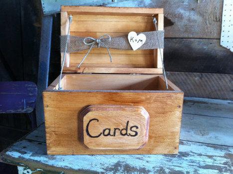 Rustic Wedding Card Box/Medium size/Stained | BruidsButler - Wedding ideas | Scoop.it