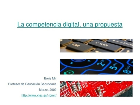 La competencia digital, una propuesta | TICS EDUCACION 1 | Scoop.it