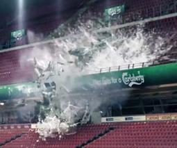 Carlsberg explose un bouteille géante pour baptiser une tribune | designit | Scoop.it