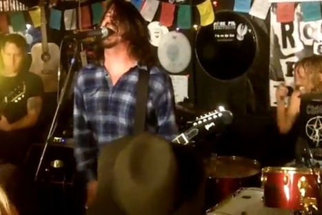 Pie Hero: Foo Fighters Play Warm-Up Gig at Pizza Restaurant | iPad Sammy's Pinterest Page | Scoop.it