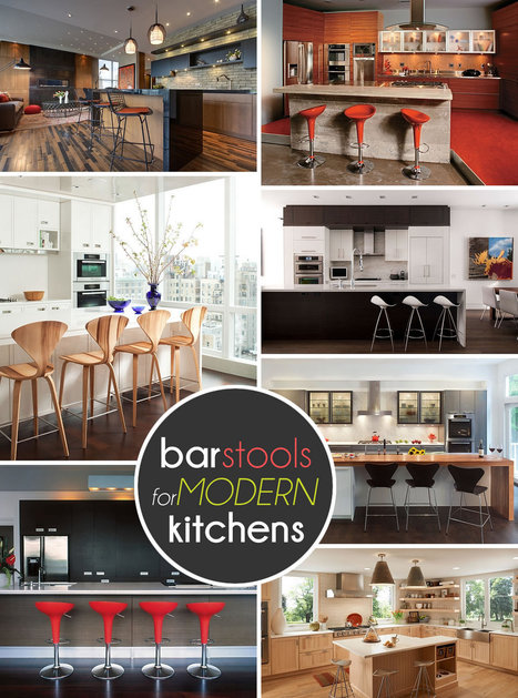 10 Trendy Bar And Counter Stools To Complete Your Modern Kitchen | Designing Interiors | Scoop.it