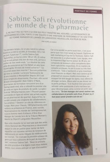 [Grizette Magazine] Sabine Safi révolutionne le monde de la pharmacie - août 2014   La revue de presse 1001pharma   Scoop.it