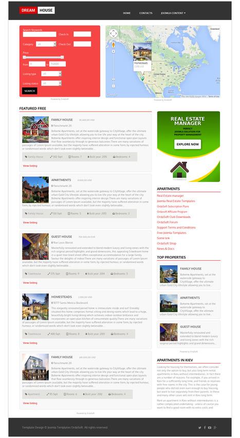 Free Real Estate Template Dream House - Ordasoft | FREE JOOMLA TEMPLATES | Scoop.it