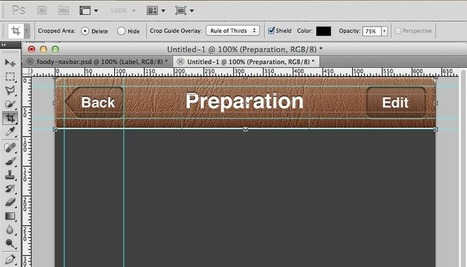 Photoshop For Developers: Making a Leather Navigation Bar | Ray Wenderlich | Conception | Scoop.it