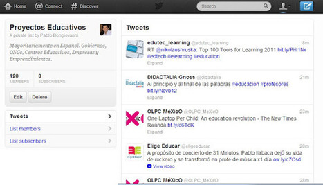 120 proyectos educativos para seguir en Twitter (lista) | Noticias acerca del modelo 1 a 1 | Scoop.it