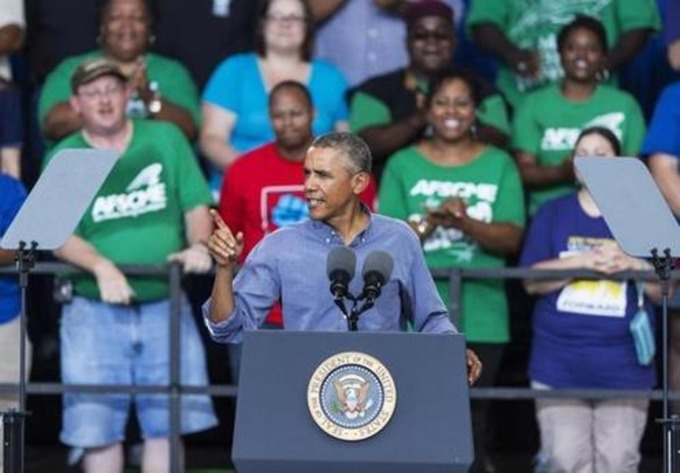 Obama takes to road to push rights of workers - Boston Globe | real utopias | Scoop.it