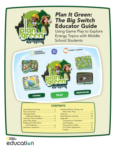 Plan It Green: The Big Switch Educator Guide | STEM Connections | Scoop.it