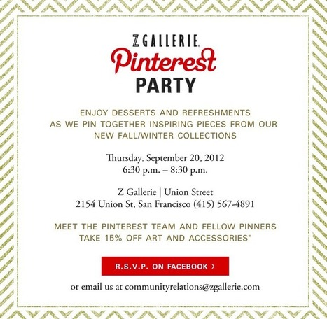 Social Savvy Z Gallerie Hosts Pinterest Party | Pinterest | Scoop.it
