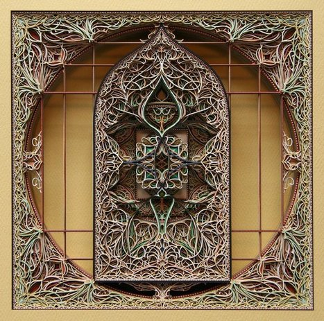 3D Laser Cut Paper Art by Eric Standley | Artistic Development, Globalization, and Environmental Art | Scoop.it