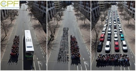 How Much Space Do Cars Take? Cyclists Demonstrate How Bicycles Fight Congestion | green infographics | Scoop.it