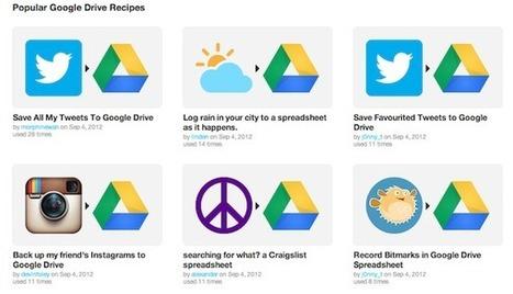 IFTTT intègre Google Drive et du coup devient une solution Pro | Veille Réseaux sociaux | Scoop.it