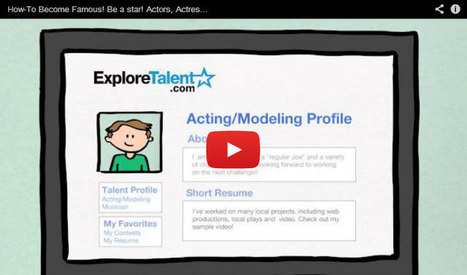 How to become an Actor, Singer, Dancer, Musician the ExploreTalent.com way - ExploreTalent.com | Jobs, Tips and Updates for Actors, Acting, Modeling, Singing and Dancing | cONVERSATION | Scoop.it