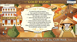 National Museum of Australia - Gold rush – Flash interactive | Gold Dust | Scoop.it