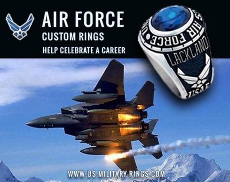 Air Force Rings   Airforce Rings   US Airfoce Custom Rings   Military Gifts   Scoop.it