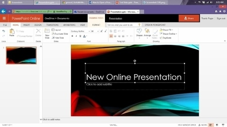 How to Open & Edit a PowerPoint Presentation Online | Digital Presentations in Education | Scoop.it