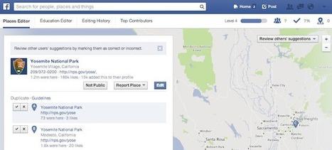 Un lifting pour le Facebook Places Editor (en) | Animer une communauté Facebook | Scoop.it