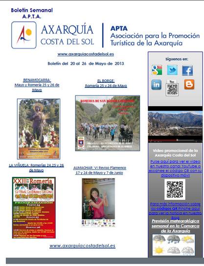 Agenda de Actividades de Axarquia Costa del Sol | Cosas de mi Tierra | Scoop.it