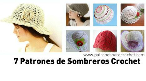 7 Patrones de Sombreros muy femeninos para tejer al Crochet ~ Patrones para Crochet | Tejidos | Scoop.it