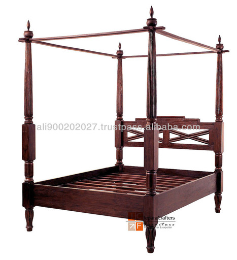 Teak Antique Beds - 4 Four post bedroom set - Balinese style furniture Jepara Indonesia wood furniture manufacturer and supplier, View Teak Four Poster Beds, TEAK BED JAVA CANOPY Product Details fr... | Teak wood furniture | Scoop.it