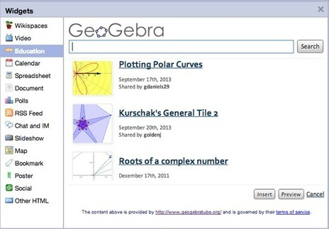 Announcing a New Education Widget: GeoGebra! ~ Wikispaces | Into the Driver's Seat | Scoop.it