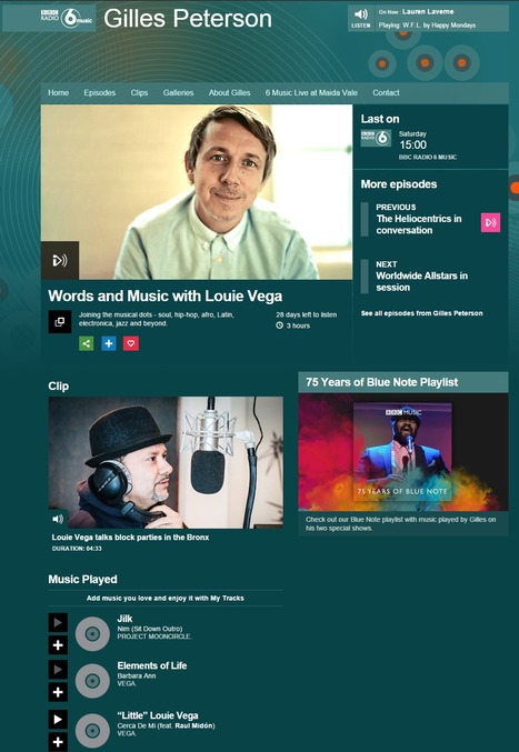 Nim (Sit Down Outro) on Words and Music with Louie Vega, Gilles Peterson - BBC Radio 6 Music March 2016 | Jilk | Scoop.it