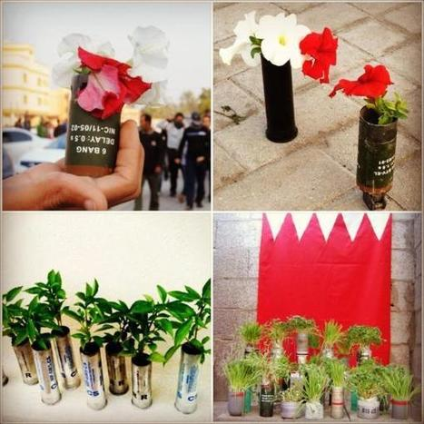 Al-Khalifas promote fear with toxic gas attacks,  reformers answer with flowers and growth! | Human Rights and the Will to be free | Scoop.it