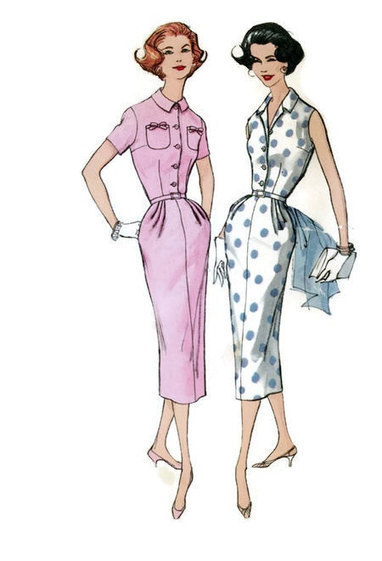 Vintage Retro Wiggle Dress Simplicity 2092 Sewing Pattern 50s Fashion Slim Fit Skirt Bust 34 | Vintage Sewing Patterns | Scoop.it