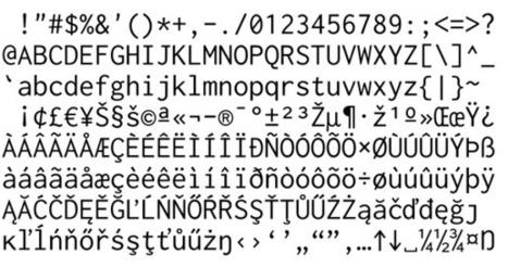 Inconsolata   ASCII Art   Scoop.it