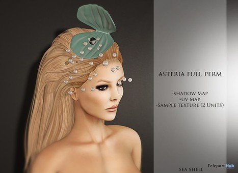 Sea Shell With Pearls 1L Promo by Asteria | Teleport Hub - Second Life Freebies | Second Life Freebies | Scoop.it