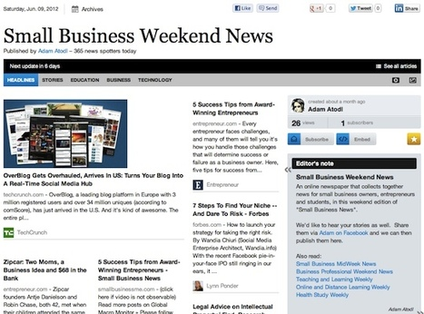 June 9 - Small Business Weekend News | Business Futures | Scoop.it