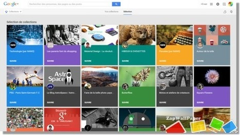 Google+ s'inspire de Pinterest et lance ses Collections | zapwallpaper | Scoop.it