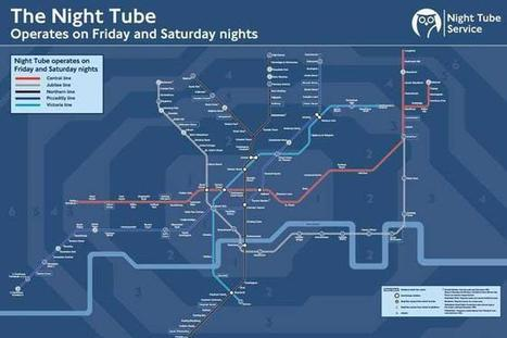 This is what London's night Tube map looks like | DJing | Scoop.it