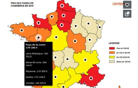 CARTE. Fonds de commerce: les prix partout en France | News Parabellum, Grande Distri & Conso | Scoop.it