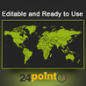 Editable & Ready-to-use PPT slides (information, maps, graphs, data)